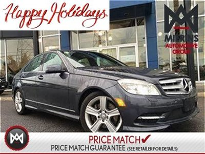 2011 Mercedes-Benz C300 AWD, LOW KM'S, SUNROOF!