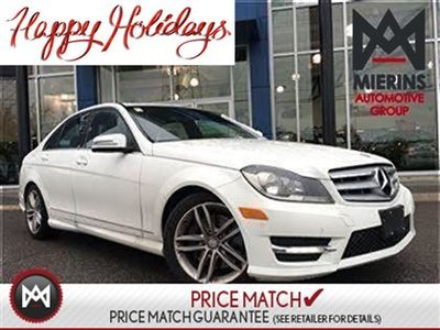 2013 Mercedes-Benz C300 AWD, PARKTRONIC, HEATED SEATS, SUNROOF!  * 150 points inspection by a Mercedes-Benz Certified Technician * Interest Rates Starti