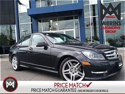 2013 Mercedes-Benz C350 AWD, NAV, PANOROOF  * 2 years extra warranty on all CPO's * 150 points inspection by a Mercedes-Benz Certified Technician * Inte