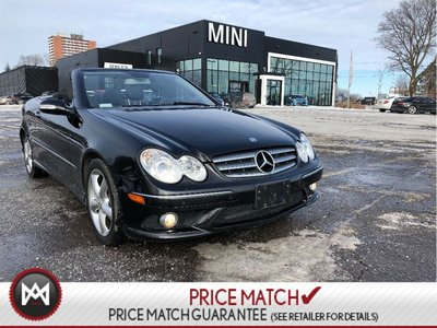 2008 Mercedes-Benz CLK350 CONVERTIBLE LOW KM 2 SETS OF WHEELS BLACK ON BLACK