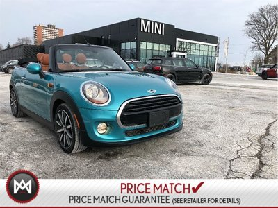 2017 MINI Cooper Convertible CHESTER LEATHER CARIBBEAN AQUA AUTO CONVERTIBLE