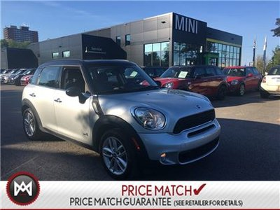 2013 MINI COOPER S Countryman ALL4 6 SPEED MANUAL AWD PANORAMIC CRYSTAL SILVER