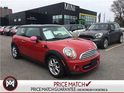 2013 MINI Cooper CHILI RED ON BLACK LEATHERETTE SUNROOF 6SPEED MANUAL!!!