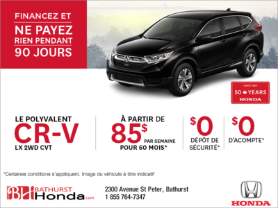 Louez la Honda CR-V 2019!