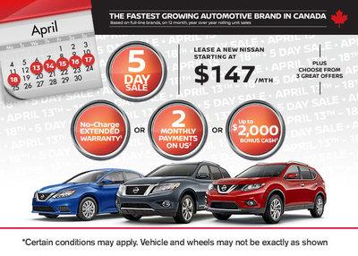 Take Advantage Of Nissanu0027s My Choice 5 Day Sale Event!