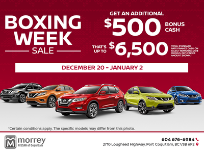 Boxing Week Sale! - Morrey Nissan of Coquitlam Promotion in