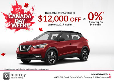 Canada Day Week at Morrey Nissan Burnaby!