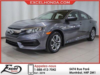 Honda Civic LX, AUTO, A/C, BAS KILOS 2016