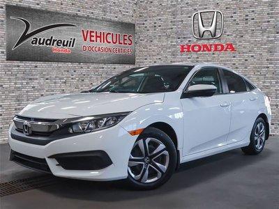 Honda Civic LX*ECRAN*CAMERA*APPLECARPLAY* 2016