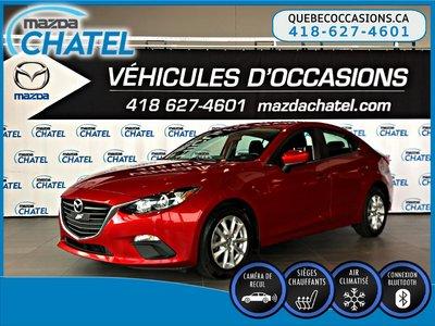 2015  Mazda3 GS - SIÈGES CHAUFFANTS - CAMÉRA - BLUETOOTH