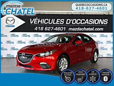 2016  Mazda3 GS - SIÈGES CHAUFFANTS - CAMÉRA - BLUETOOTH