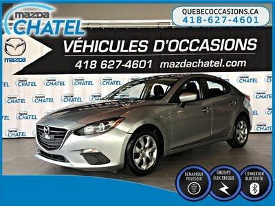 2016  Mazda3 GX - MANUELLE - GR ÉLECTRIQUE - BLUETOOTH