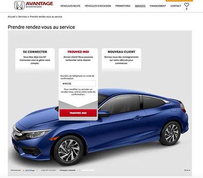 Comment prendre un rendez-vous en ligne chez Avantage Honda en moins de deux minutes?