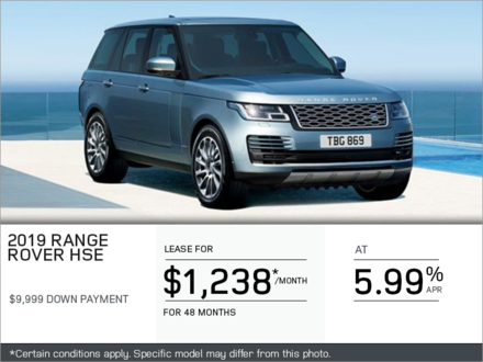 The 2019 Range Rover GAS HSE