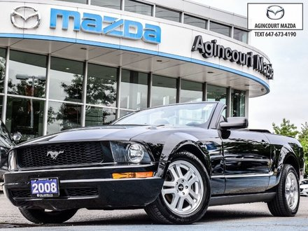 2008 Ford Mustang V6 Convertible   Manual   Power Seat   A/C