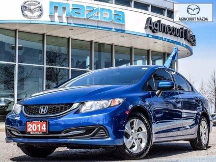 2014 Honda Civic LX   No Accidents   Heated Seats   A/C   Keyless