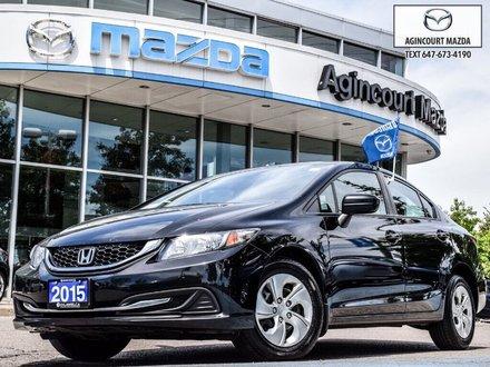 2015 Honda Civic LX   No Accidents   Rear Camera   Heated Seats