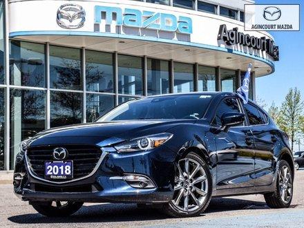 2018 Mazda Mazda3 Sport GT   Premium Pkg   Navi   Sunroof   Lthr   Htd Sts