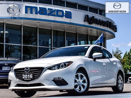 2016  Mazda3 GX   No Accidents   Rear Cam   Bluetooth   A/C