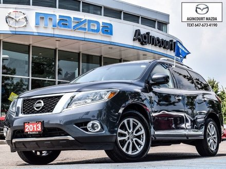 Nissan Pathfinder SL   Sunroof   Leather   Rear Cam   Hitch   Rails 2013