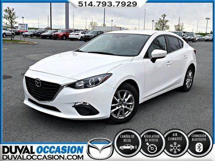 2015  Mazda3 GS + CAMERA DE RECUL + CLIMATISATION + BLUETOOTH