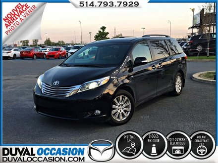 2016 Toyota Sienna LIMITED 7 Pass AWD +DVD +TOIT OUVRANT + NAVIGATION