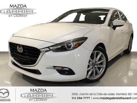 2017  Mazda3 SPORT GT + CUIR +  TOIT + AMAIS ACCIDENTE + SEULEMENT 10 900KM