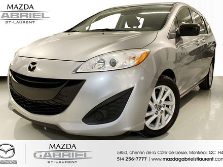2014  Mazda5 GS + BLUETOOTH+  REGULATEUR DE VITESSE + DEMARREUR A DISTANCE