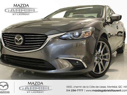2017  Mazda6 GT + CUIR +  JAMAIS ACCIDENTE + SEULEMENT UN PROPRIO