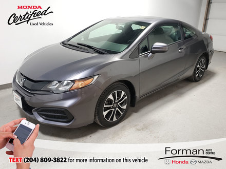 2015 Honda Civic Coupe EX|Certified|Extended Warranty
