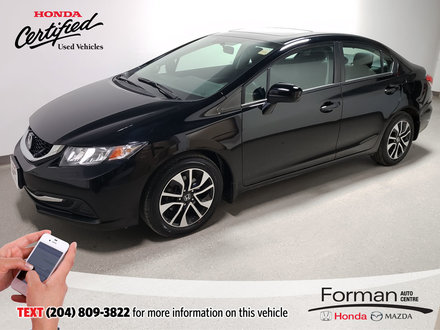 2015 Honda Civic Sedan EX|Certified|Extended Warranty