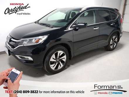 2016 Honda CR-V Touring Rmt Start Certified Htd Lthr Sunroof Local