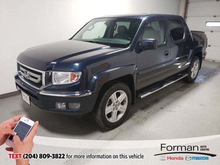 2011 Honda Ridgeline EX-L Sunroof Htd Lthr Dual Climate 4WD Low Kms
