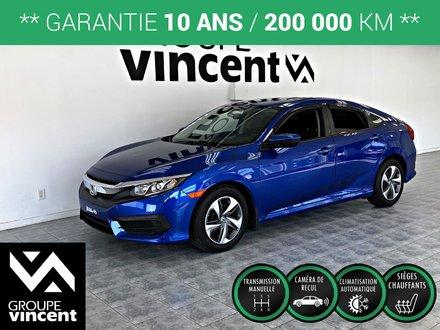 Honda Civic LX ** GARANTIE 10 ANS ** 2017