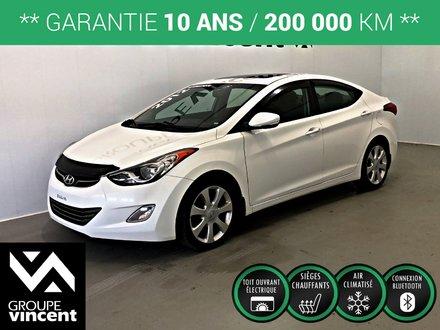 Hyundai Elantra Limited CUIR-TOIT OUVRANT ** GARANTIE 10 ANS ** 2012