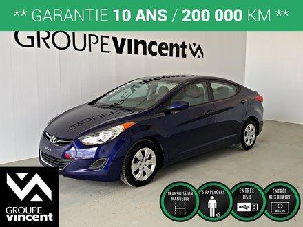 Hyundai Elantra L **GARANTIE 10 ANS** 2013
