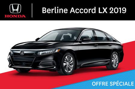 Honda Accord Berline LX manuel 2019