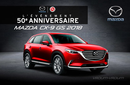 Mazda CX-9 GS 2018 - 7 passagers
