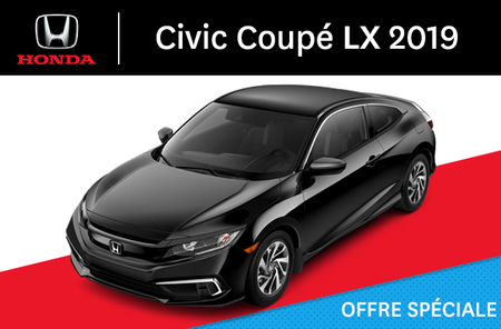 Honda Civic Coupé LX manuel 2019