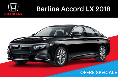 Honda Accord Berline LX manuel 2018