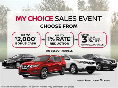 Nissan's My Choice Sales Event!