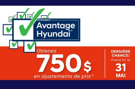 Dernière Chance - Obtenez 750$ en ajustement de prix