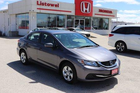 2015 Honda Civic Sedan LX- CERTIFIED, GREAT VALUE