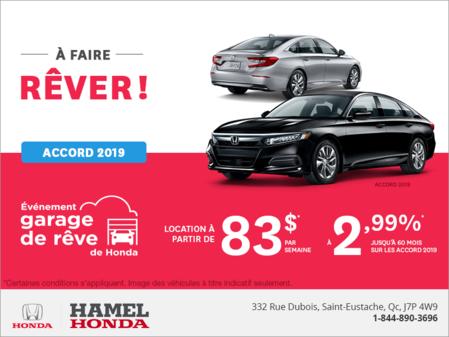 Louez la Honda Accord Berline 2019!