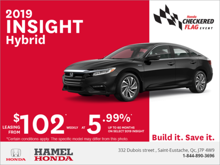 Lease the 2019 Honda Insight!