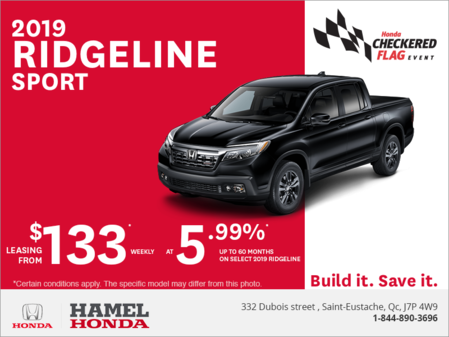 Lease the 2019 Honda Ridgeline!