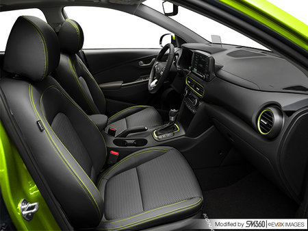 Hyundai Kona ULTIMATE Black with Lime Trim 2019 - photo 2