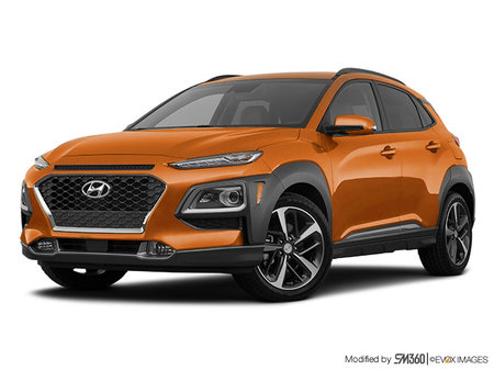 Hyundai Kona ULTIMATE Black with Orange Trim 2020 - photo 3
