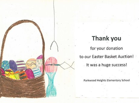 Thank you for your donation to our Easter Basket Aution!