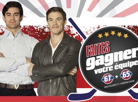 Faites gagner votre équipe! Rencontrez Max Pacioretty et Andrew Shaw du Canadien de Montréal!